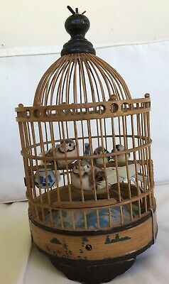Vintage Asian Bamboo Singing Bird Cage