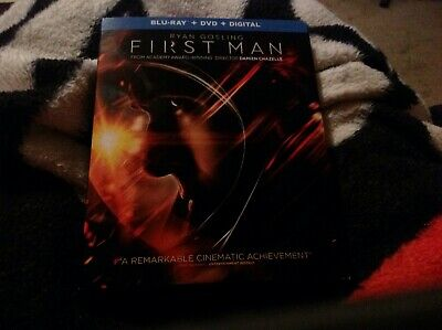 First Man blu-ray dvd combo movie package opened but not viewed NEW no digital