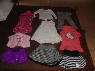 LOT of GIRLS 4T CLOTHING Hello Kitty MINNIE MOUSE Gymboree JACKETS Skirts 4 NICE