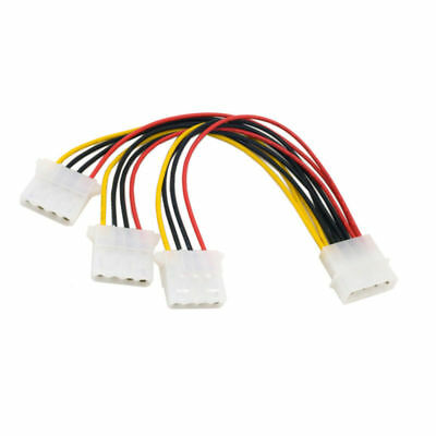 4 Pin IDE 1-to-3 Molex IDE Power Supply Y Splitter Exentsion Cable cord Bes L6Q2