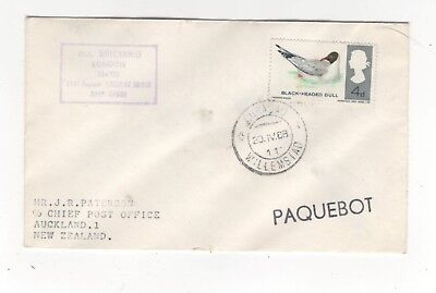 Curacao Willemstad Paquebot Postmark 20 Apr 1969 Cover MV Britannic 992b
