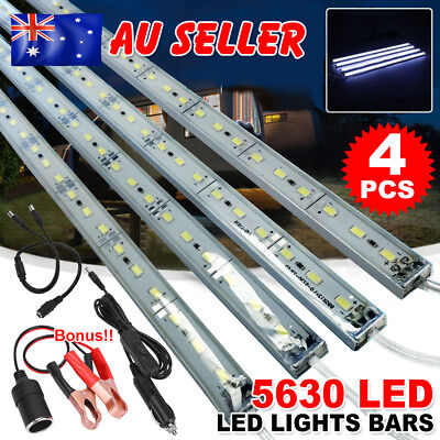 4X12V Cool White 5630 Led Strip Lights Bars Camping Boat Car Caravan AU