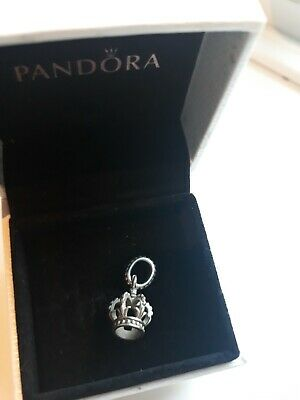 Genuine PANDORA crown  Charm / pendant Sterling Silver S925 Ale