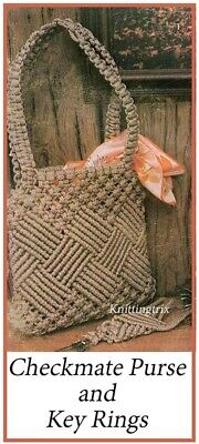 Macrame Pattern - Checkmate Purse And Key Ring -  Copy -