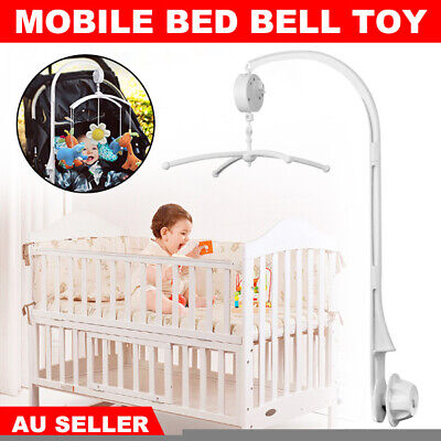 Baby Crib Mobile Bed Cot Bell Toy Holder Arm Bracket Wind-up Music Box DIY Gift