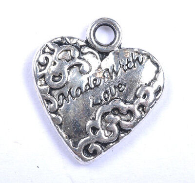 FREE SHIP 10pcs tibet silver heart+design charm 19X17MM  JK0849