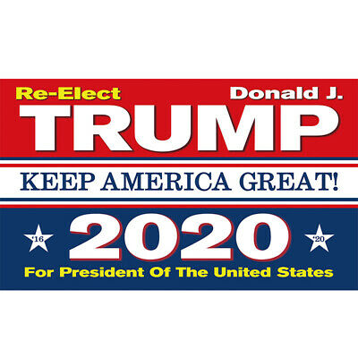 Trump 2020 Keep America Great President Donald No More BS 3x5Ft MAGA Flag Banner