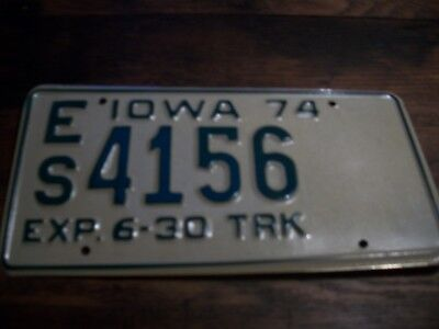 1974   Iowa Truck   License Plate Tag# 4156