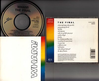 WHAM- The Final CD 1986 *JAPAN EPIC CDEPC 88681* Best of/Greatest Hits