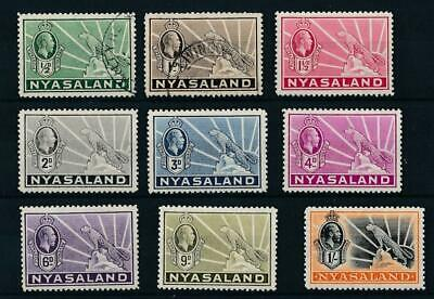 [5760] Nyasaland 1934-35 good set very fine MH stamps value $40
