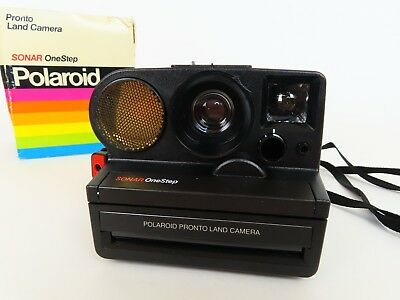 Vintage Polaroid Pronto Land Camera Sonar One Step Auto Manual Tested & Works