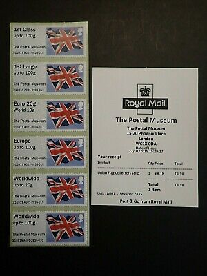 Post And Go - Collectors Strip  - Union Flag - The Postal Museum