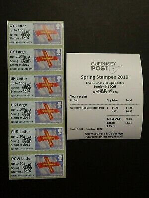Guernsey Post And Go - Collectors Strip - Flag - Spring Stampex 2019