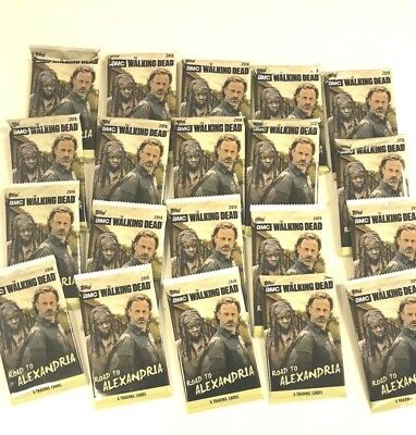 2018 Topps Amc The Walking Dead Road To Alexandria Packs ( 20 Pack Lot )
