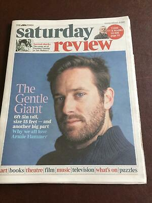 UK Times Review Feb 2019: Call Me By Your Name ARMIE HAMMER COVER & FEATURE