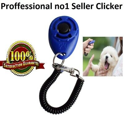 DOG  PET TRAINING CLICKER/TRAINER TEACHING TOOL /DOGS/PUPPY with Wrist Holder UK