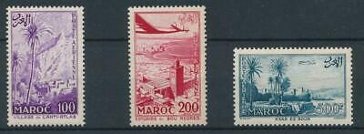 [32143] Morocco 1955 Good airmail set Very Fine MNH stamps