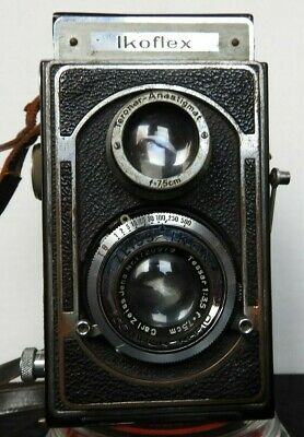 c.1936 Early Lever Focus Carl Zeiss Jena Ikoflex II Twin-Lens Reflex Camera RARE
