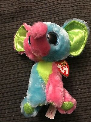 a84d7713195 TY BEANIE BOOS - ELFIE the ELEPHANT (JUSTICE EXCLUSIVE) - MINT with ...