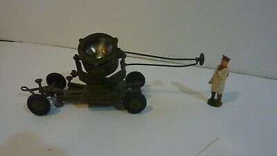Britains like metal Military search light with lead figure
