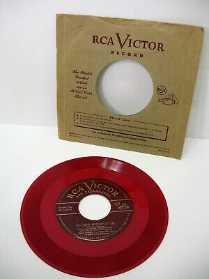 Vintage RCA Victor 45 rpm Records, Indian Love Call, Nelson Eddy, J McDonald