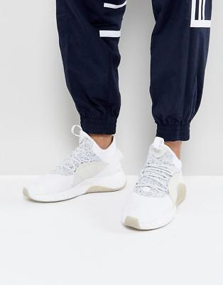 New Mens Adidas Originals Tubular Rise White Lace Up Trainers Sneakers Uk 10