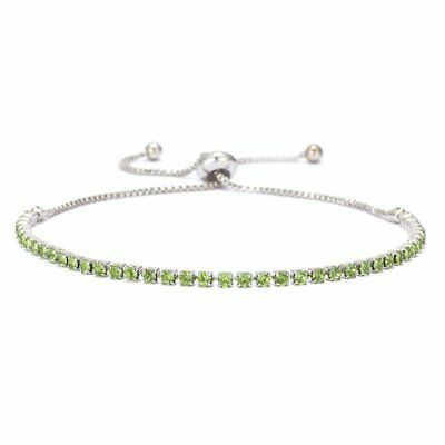 Women Fashion Rhinestone Crystal Bracelet Adjustable Bangle Cuff Jewelry Chic