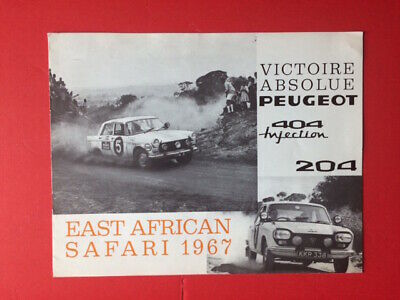 Peugeot 404 East African Safari  1967 Catalogue Brochure