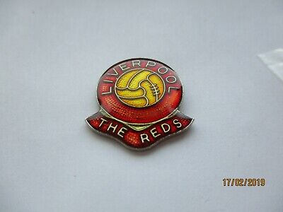 Liverpool The Reds Lfc Vintage Football Team Club Shield Ball Enamel Pin Badge