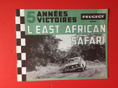 Peugeot 404 East African Safari  Catalogue Brochure