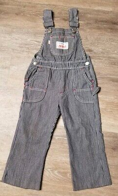 RARE ESTATE FIND! Vintage 1970 Big E Levis Denim Bib Overalls Youth 4T Railroad