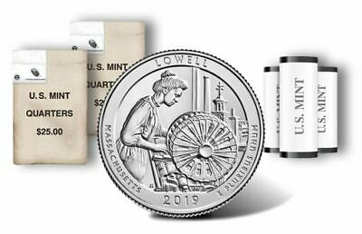 2019 P&D  ATB Lowell National Historical Park Mass MA Mint Quarter Coins Money