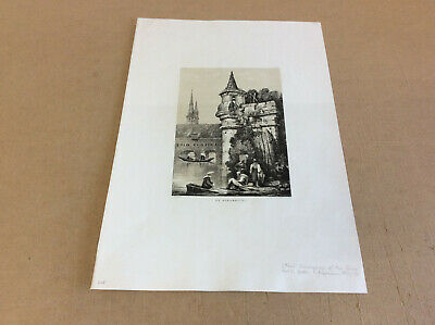 "Samuel Prout ""At Strasbourg"" aus Illustrations of the Rine Lithographie 1824#337"