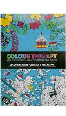 Colour Therapy The  Anti Stress  Adult  Colouring  Book 64 Pages  32 Design