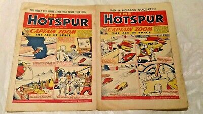 HOTSPUR COMICS.(2)..with Captain ZOOM .1951.Numbers .#764 and #765