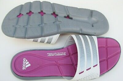 0a7c3fd636a6 New Adidas Adipure 360 Slide F32909 white silver Grey pink US Women Size 9