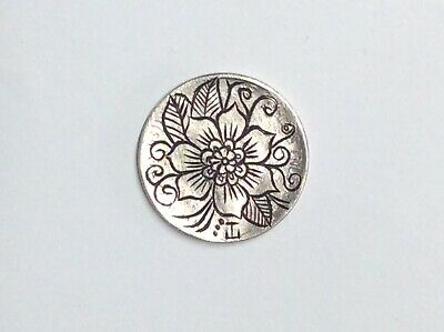 hand engraved coin. Hobo Nickel. Hand Carved Coin.