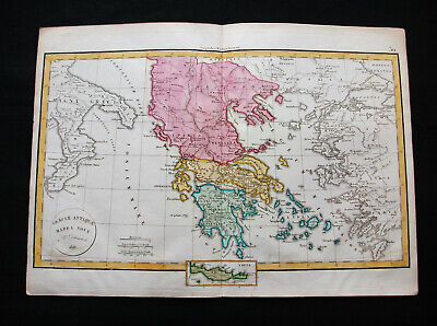 1829 VAUGONDY & DELAMARCHE - GREECE, TURKEY in EUROPE, BALKANS, MACEDONIA SERBIA