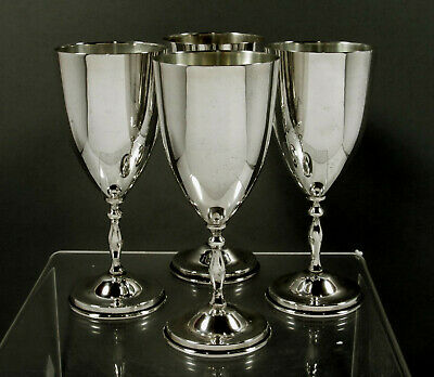 Mexican Sterling Silver Goblets     (4) Signed Azteca - 35 Ounces