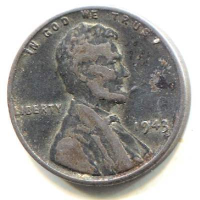 Wartime 1943 P Lincoln Steel Wheat Penny - American One Cent Coin - Philadelphia