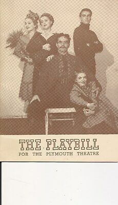 """Playbill Montgomery Clift """"The Skin of our Teeth"""" 1943 NYC"""