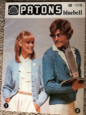 Vintage Patons Knitting Pattern Book 539 Bluebell
