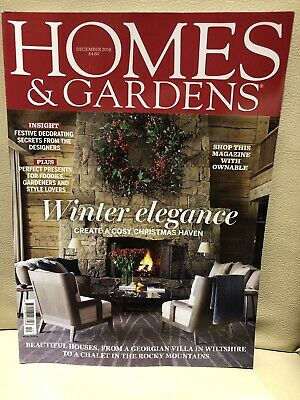 Homes and Gardens house/lifestyle/interiors magazine, December 2018