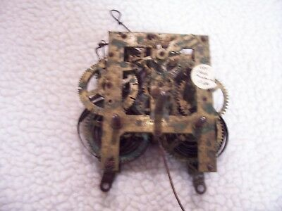 Two E. Ingraham 30 hour mantel clock movement for parts or repair