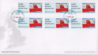 GB 2015 (18th May) Gibraltar Post & Go Stamps on RM Cover, LOOK!
