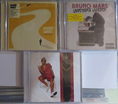 BRUNO MARS - DOO - WOPS/UNORTHODOX JUKEBOX/XXIVK MAGIC (3 x EU CDS/EXTRA TRACKS)