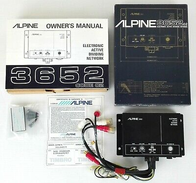 Alpine 3652 - Electronic Active Diving Network - Nuovo Con Scatola - Car Audio
