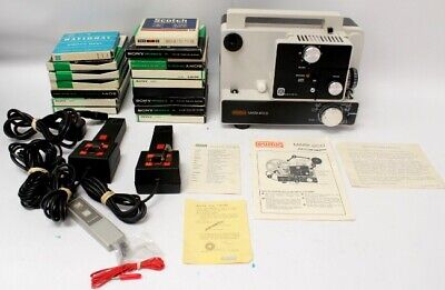 EUMIG Mark 610D Dual 8mm Cine Video Screen Projector Boxed with Tapes - C82