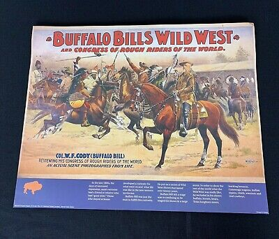 Vintage 1980'S Era Reprint Of Historical Buffalo Bill's Wild West Show Poster