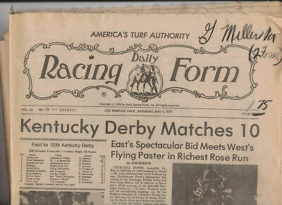 RARE HORSE RACING Kentucky Derby Daily Racing Form Churchill Down Race Track
